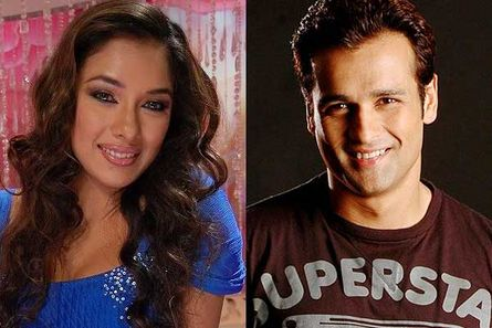 Rupali Ganguly and Rohit Roy