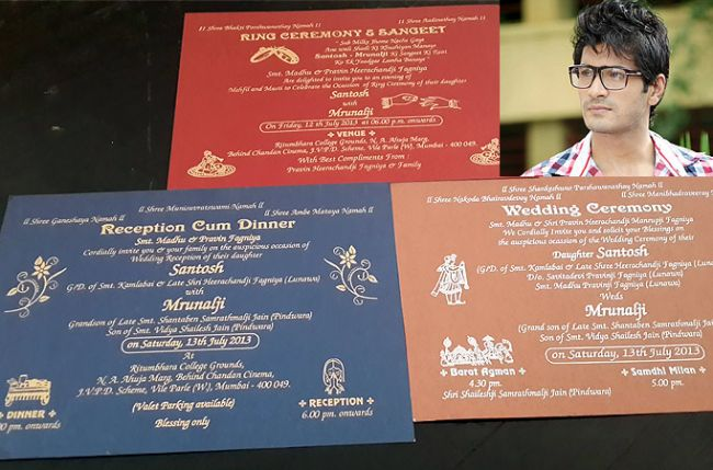 Jain Wedding Invitation Wording Yaseen for