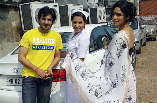 Good friends Ajay Chaudhary and Shikha Singh surprise Sargun Mehta Shikha