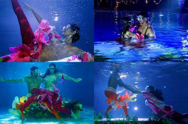 Nach Baliye couple Bruna and Omar impresses the judges with their underwater act Bruna