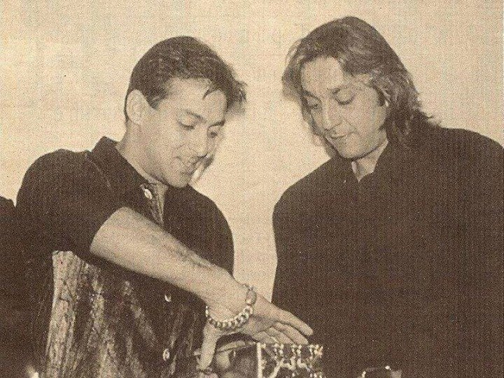 Old and rare pic of Salman Khan and Sanjay Dutt