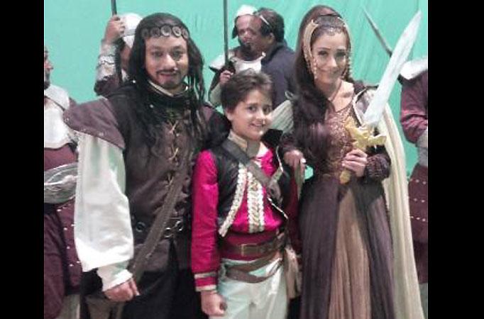 Sara Khan and Yash Mistry in Life OK's Hatim