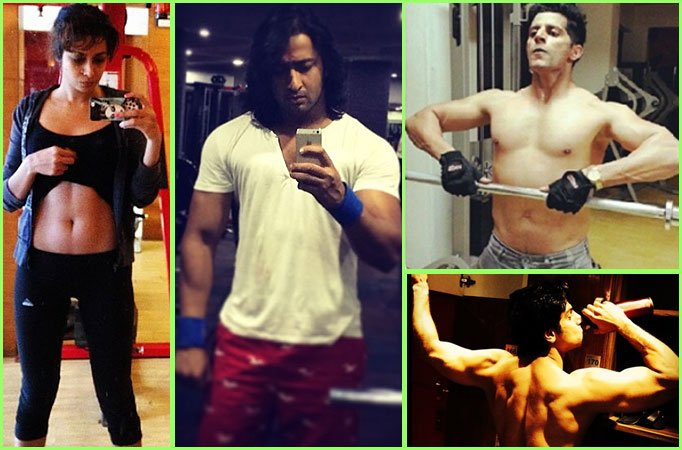 check out cool gym selfies of tv celebs
