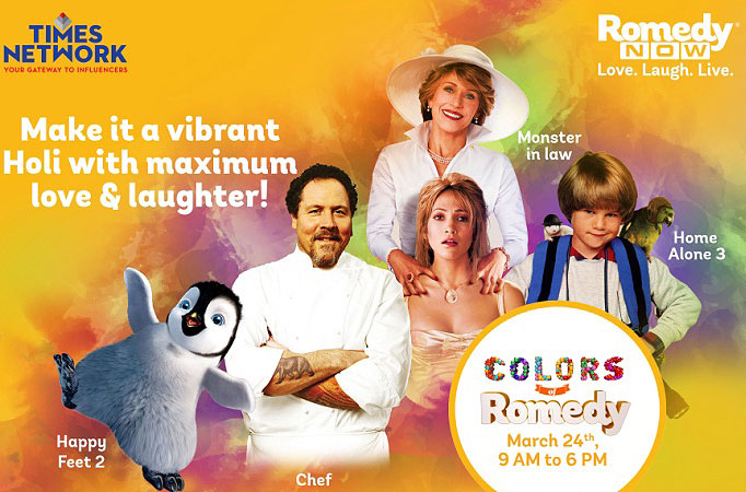 Colours of Romedy to brighten this Holi