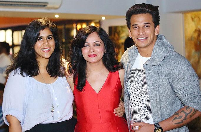 Producer Dipti Kalwani with Rytasha Rathore and Prince Narula