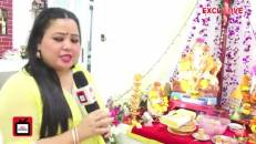 Bharti welcomes Bappa at her new house