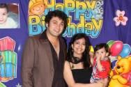 Rajesh Kumar with wife Madhavi and son Ahaan