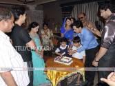 Zee TV's Punar Vivah team celebrating Rakesh Kukreti's birthday on the sets