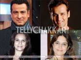 Brothers Ronit and Rohit Roy; Ronit's wife Neelam and Rohit's wife Mansi