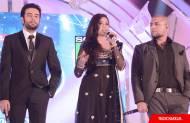 The judges: Vishal-Shekhar with Shreya Ghoshal
