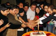 "Cake cutting after first episode telecast of ""Aur Pyaar Ho Gaya"""