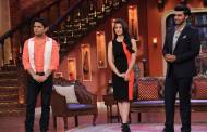 Alia Bhatt and Arjun Kapoor on the sets of Comedy Nights with Kapil