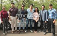 Sidharth and Shraddha with CID team