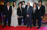 Actor Arman Jain with family during the premiere of film Lekar Hum Deewana Dil