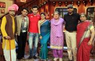 Irfan and Yusuf Pathan on the sets of Comedy Nights with Kapil