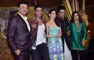 Anu Malik,Farah Khan, Akshay Kumar and Tamannaah Bhatia on the sets of Entertainment Ke Liye Kuch Bhi Karega