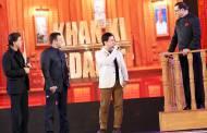 Shah Rukh Khan, Salman Khan and Aamir Khan with Rajat Sharma