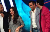 Vishal Dadlani, Preity Zinta, Virender Sehwag and Salim Merchnt on the sets of Indian Idol Junior