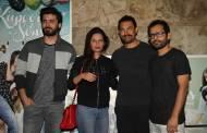Fawad Khan with wife, Aamir Khan and friend