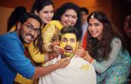 Groom Vivek had all the fun at his haldi