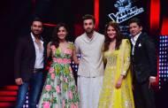 Shekhar Ravjiani,Neeti Mohan, Ranbir-Anushka and  Shaan