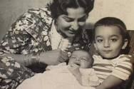 Nargis and a young Sanjay Dutt