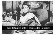 "At birth, baby Mehjabeen was left at a muslim orphanage because her father was unable to pay the fees of Dr Gadre. Meena was the second daughter to a Sunni Muslim master Ali Bux and a Bengali Christian Prabhavati Devi. She started working in films pretty early on in life. Little Mehjabeen used to say ""I do not want to work in movies; I want to go to school and learn like other children."""