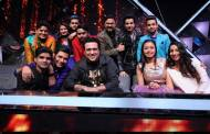 Govinda on the sets of Indian Idol