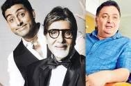 Abhishek Bachchan, Amitabh Bachchan and Rishi Kapoor