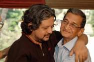 Amole Gupte with his father Sudhakar Laxman Gupte