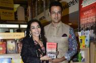 Television actor Rohit Roy and Author Madhuri Iyer during the launch of Madhuri Iyer's book Manhattan Mango