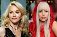 Pop star Madonna and Lady Gaga