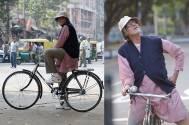 Amitabh cycles in Kolkata