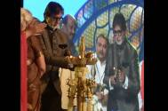 Amitabh Bachchan at the 45th edition of the International Film Festival of India (IFFI) along with superstar Rajinikanth in Goa