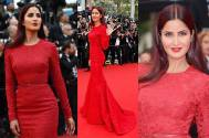 Katrina dons ravishing red for Cannes appearance