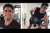 Rahul Bhatt trains Kunal Kohli in the gym