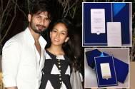 LEAKED: Shahid-Mira's Mumbai reception invite