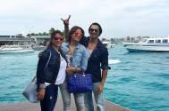 Karan Singh Grover and Bipasha Basu with their good friend Deanne Panday