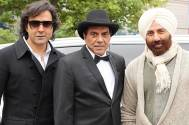 Dharmendra with Sunny Deol and Bobby Deol