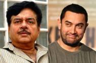 Shatrughan Sinha and Aamir Khan