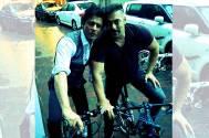 Shah Rukh, Salman enjoy bike ride together