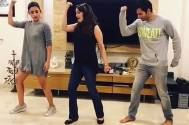 Madhuri teaches Alia, Varun 'Tamma tamma' moves