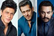 Shah Rukh Khan, Salman Khan, and Aamir Khan