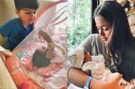 Sameera's son 'fascinated' by his newborn sister