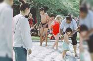 Taimur trends with pool party pics