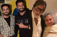 Ayushmann Khurrana and Vicky Kaushal receive a surprise from Amitabh Bachchan and Jaya Bachchan