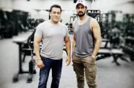 'Sultan & Pehlwaan': Sudeep poses with Salman Khan
