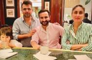 Taimur Ali Khan poses with his drink on a dinner outing with parents; the picture will make you go 'aww'