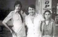 Amitabh Bachchan, Randhir Kapoor and Neetu Singh