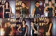 Who looked stunning in black at the 13th Indian Telly Awards?